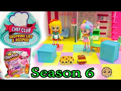 2 Season 6 Shopkins Chef Club Surprise Blind Bags with Mystery Shopkins Inside Recipe Book