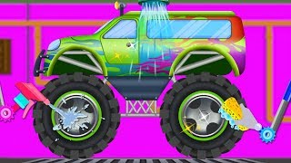 Monster Truck | Car Wash | Street Vehicles For Children | Videos For Toddlers by Kids Channel
