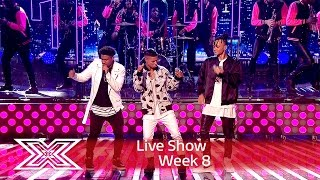 5 After Midnight get Uptown Funky for Louis Loves | Live Shows Week 8 | The X Factor UK 2016