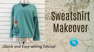 Quick and Easy Sweatshirt Makeover
