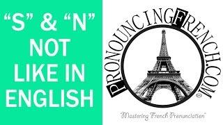 "Word of the Week #31 - ""S"" & ""N""-Not Like English - Mastering French Pronunciation w/ Geri Metz"