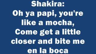 Shakira - Rabiosa feat  Pitbull Lyrics/letra on screen