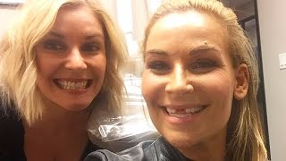 Natalya gets her teeth knocked out
