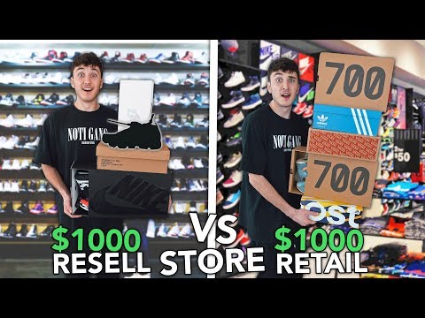 1000 At Resell Sneaker Store vs 1000 At Retail Sneaker Store