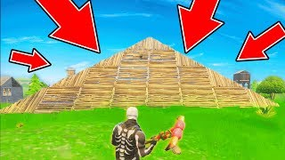 THE BIGGEST PYRAMID EVER BUILT IN FORTNITE BATTLE ROYALE!