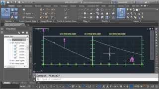 Civil 3D: Creating Split Profile Views