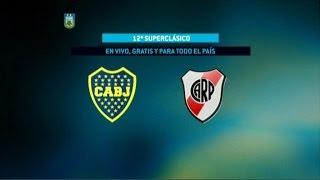 Fútbol en vivo. Boca - River. Fecha 11 del Torneo de Primera División. FPT.