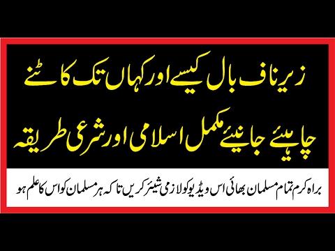 Zair Naaf Ball Kahan Tak Katny zarori Hain اسلامی حکم زیر ناف بال کہاں تک کاٹنے چاہیے