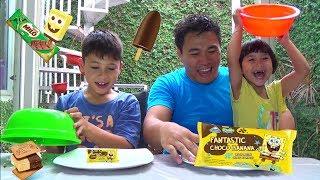 Big vs Mini Ice Cream Challenge !! Ada Es Krim Spongebob Patrick + MILO
