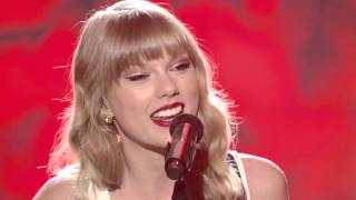 Taylor Swift Begin Again Live Performance VH1 Storytellers 2013 AMA Europe Music Awards EMA Red