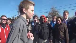White Kid Kills it in High School Rap Battle (Ashtin Larold)
