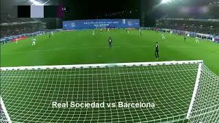 LUIS SUAREZ GOAL - Real Sociedad vs Barcelona 2-3