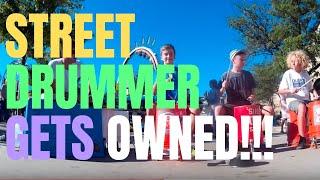 5th graders upstage street drummer @ US Coast Guard Festival Grand Haven MI