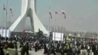 ميدان آزادي در 22 بهمن : ويديويي از داخل ميدان