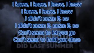 I Know What You Did Last Summer  Shawn Mendes  Camila Cabello Lyrics  Audio