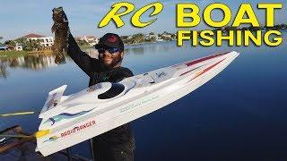 RC Boat Bass Fishing!!!