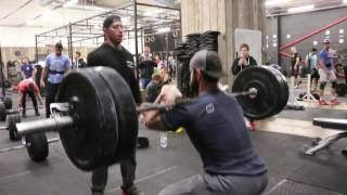 Froning, Bailey, & Bridges do 90 Squat Cleans at 225lbs
