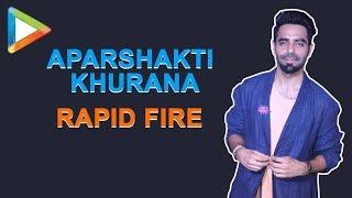 """""""Aamir Khan is a better actor than Shah Rukh Khan,"""" says Aparshakti Khurana in a FUN Rapid Fire"""