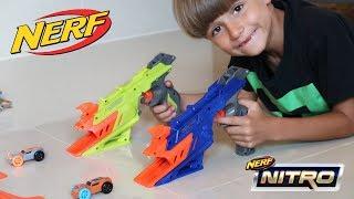 New NERF Blaster Cars Shooter Toy: NERF NITRO DUELFURY DEMOLITION