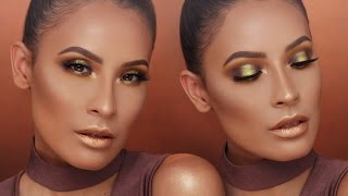 CHARTREUSE SMOKEY EYE W/ METALLIC LIPS | DESI PERKINS