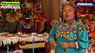Chaquiras y nylon se convierten en arte en las manos de una Embera Chamí