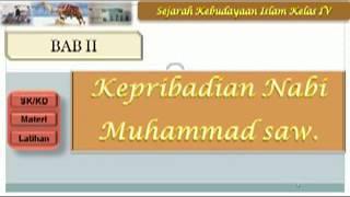 Video Pembelajaran kepribadian Nabi Muhammad ski kelas 4 bab 3