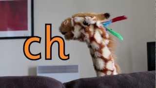 Geraldine the Giraffe learns /ch/ sound