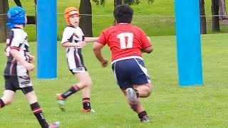 Massive 9-Year-Old Bulldozes Entire Rugby Team