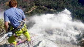 Falling rocks at Yosemite crash through tourist's sunroof