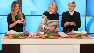 Martha Stewart Cooks with Ellen and Drew