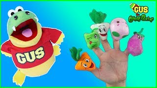Family Finger Songs Learn Fruits and Veggies Nursery Rhymes