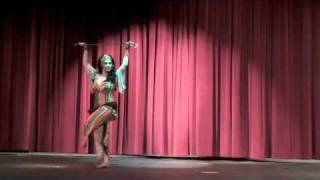 Sabrina Belly Dancer Saidi Cane Dance