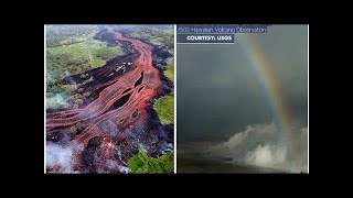 Hawaii volcano eruption: ASTONISHING footage shows rainbow appearing inside the crater