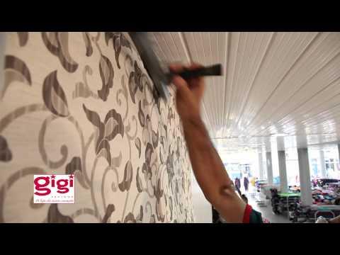 Decoração colagem de tecidos na parede