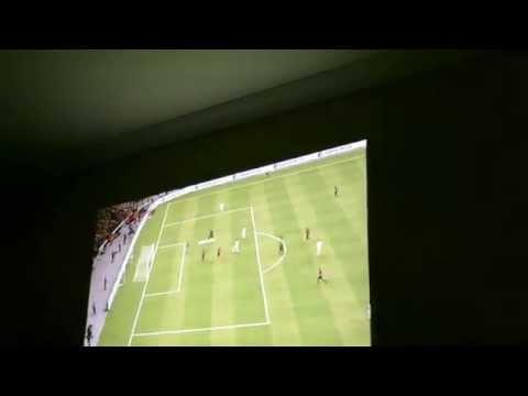 FIFA 2015 XBOX 360 NO TELÃO 80 PROJETOR BENQ 514PB