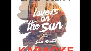David Guetta feat Sam Martin - Lovers on the Sun Karaoke/ Instrumental / Cover [HQ]