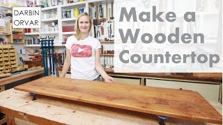 Making an Awesome Wooden Counter-Top for Built-ins