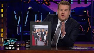 Hillary Clinton Bailed James Corden Out for the GRAMMYs