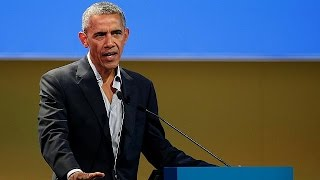 Milan: Barack Obama advocates action against climate change
