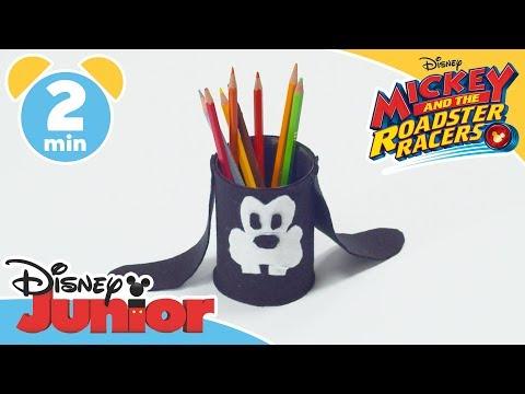 Mickey and the Roadster Racers   Tutorial: Goofy's Pencil Pot   Disney Junior UK