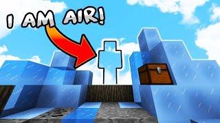 """""""I Am AiR"""" - Minecraft SkyWars Trolling! (I Am Stone CHALLENGE)"""
