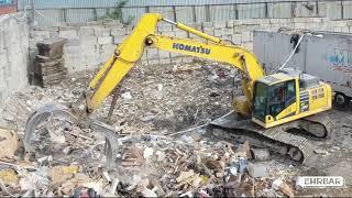 Komatsu PC290LC Excavator - DeCostole Recycling & Transfer Station - Ehrbar