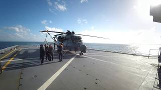 How to unfold a helicopter on a ship!