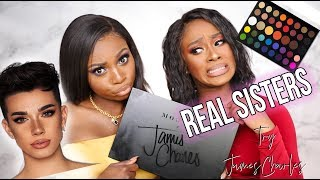 REAL SISTERS..TRY JAMES CHARLES X MORPHE PALETTE- ARE WE SISTER ASHY? W MONICASTYLE MUSE!