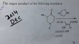 Csir net chemical science Dec 2014 part c organic chemistry solutions with mechanism, organic chemis