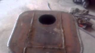 Печка на отработке с водяным контуКак отполировать