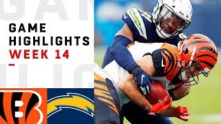 Bengals vs. Chargers Week 14 Highlights | NFL 2018