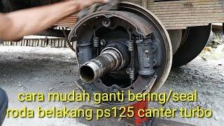 Cara mudah mengganti bering dan seal roda belakang PS 125 canter turbo#bayu putra motor