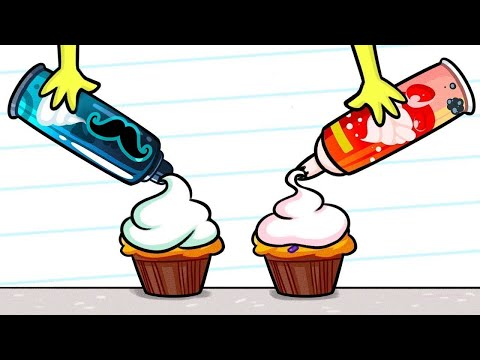 Bromas de Esposo VS Esposa Dibujos animados