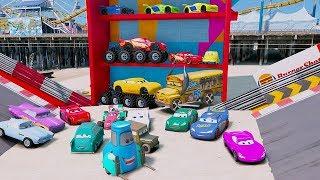 Cars 3 Colors Jackson Storm Fabulous Lightning McQueen Cruz Ramirez Tow Mater Mack Truck Dinoco